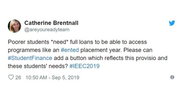 Student Finance Tweet
